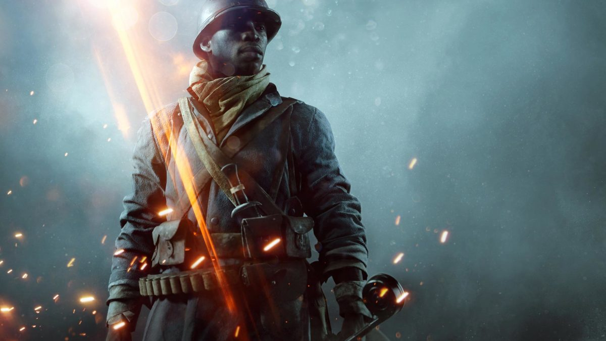Screenshot from Battlefield 1, an image of a colonial soldier